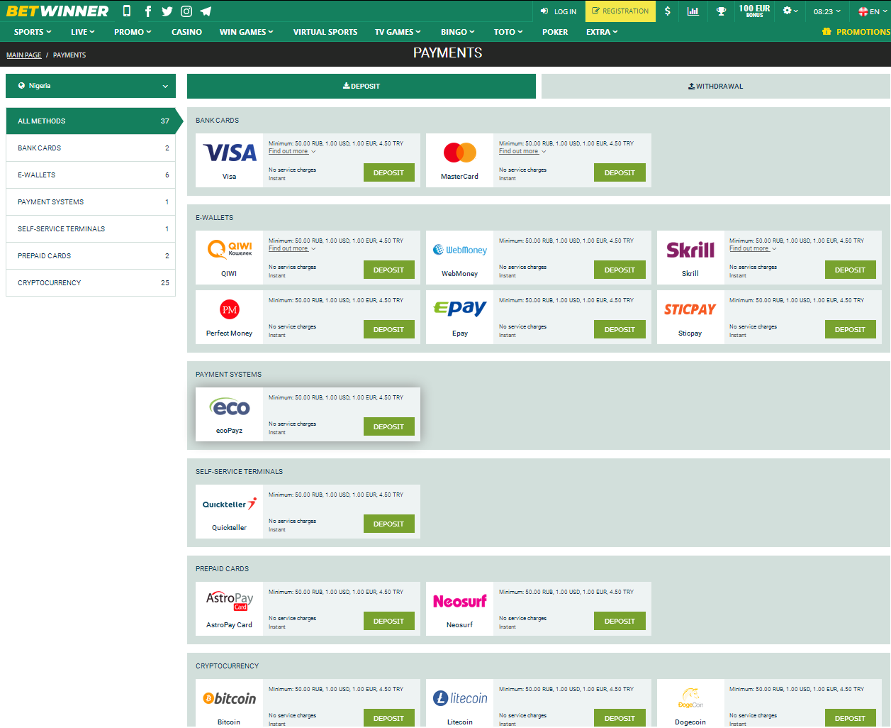 Payment Methods for Nigeria