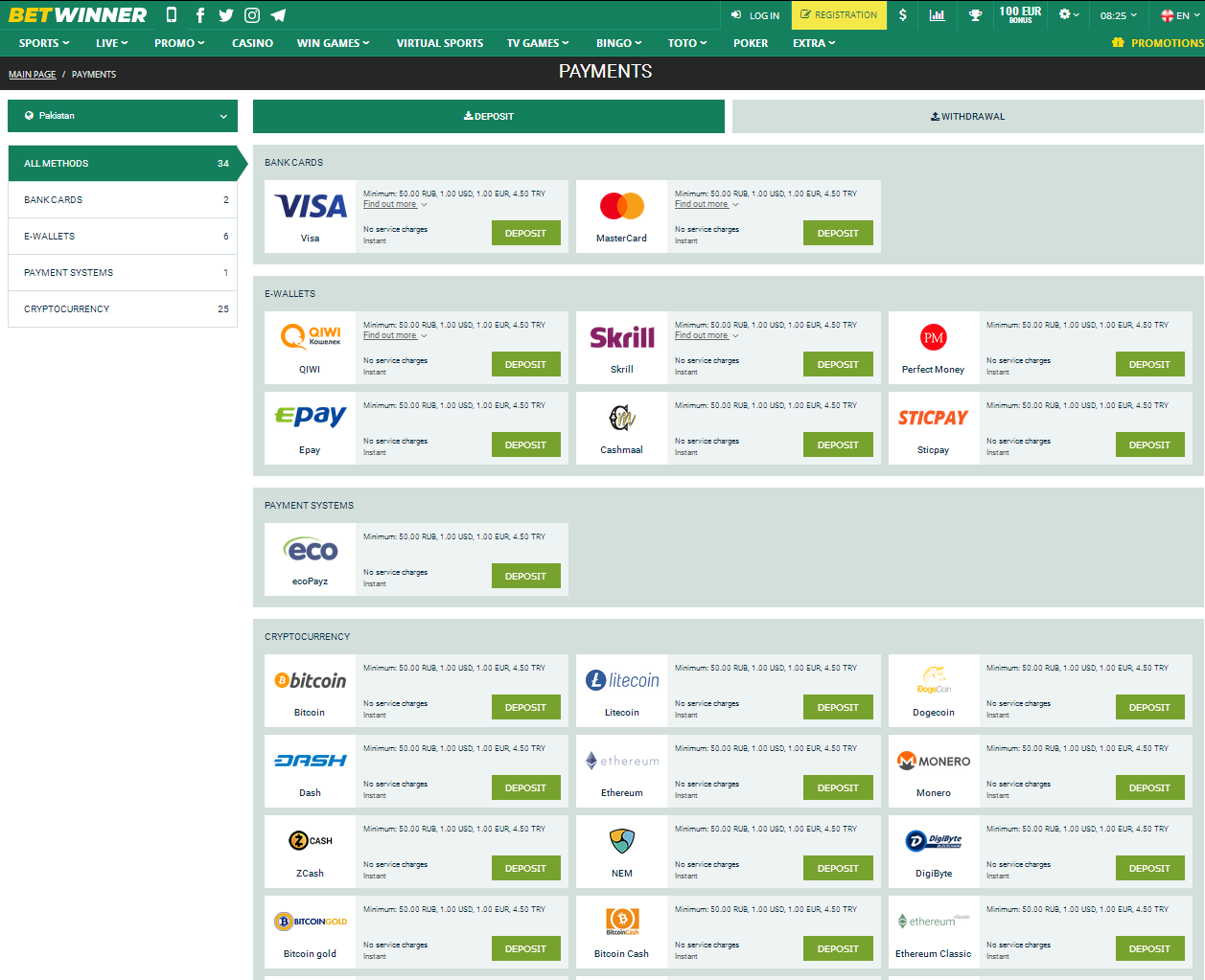 Payment Methods for Pakistan