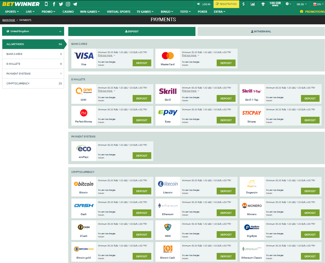 Payment Methods for UK