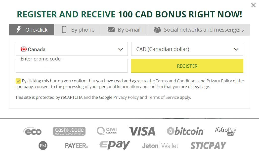 Canada Signup Account